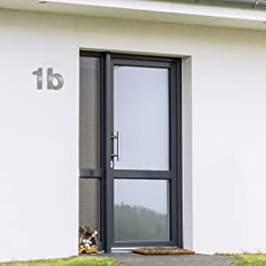 Huisnummer nummer nummer roestvrij staal geborsteld geslepen v2a wonen cijfer.