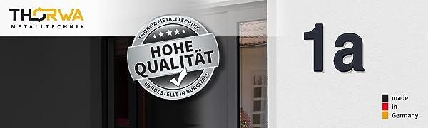 Roestvrij staal huisnummer RAL 7016 gepoedercoat teken nummer 1 hoge kwaliteit made in Germany