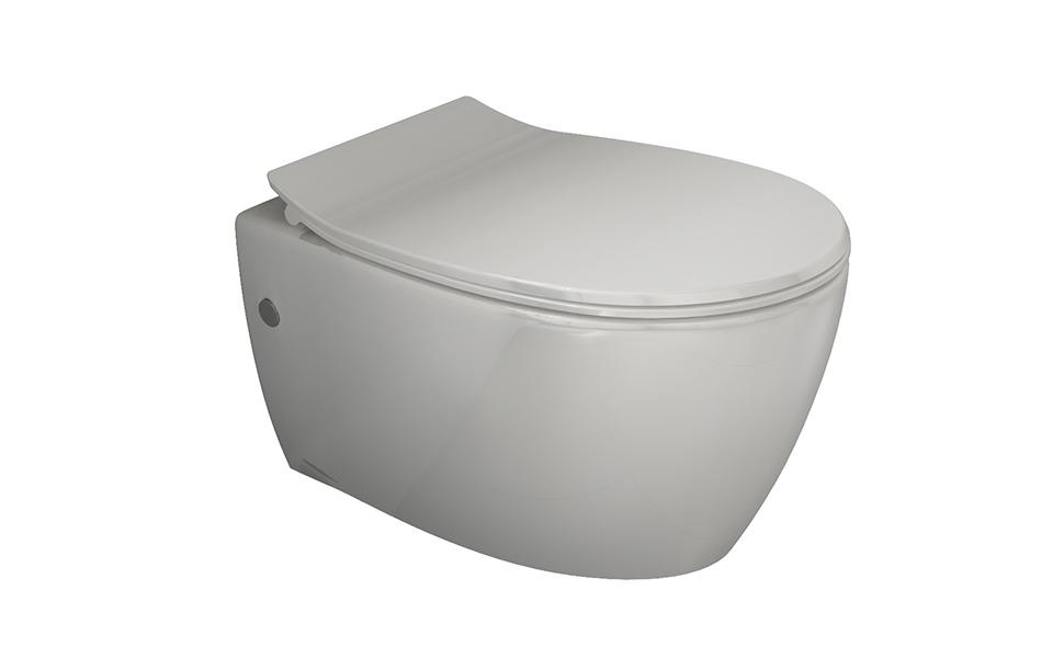 Toilette Da Bagno : Aqua bagno spülrandloses design hänge wc inkl softclose wc sitz