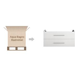 Badmöbel vormontiert Badmöbel-Set Waschbecken mit Unterschrank