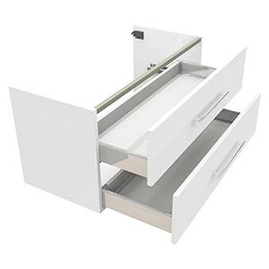 Unterschrank Badmöbel Softclose Metallauszug Vollauszug Badschrank Wandhängend vormontiert