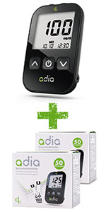 adia Blutzucker-Set mit 110 Blutzuckerteststreifen