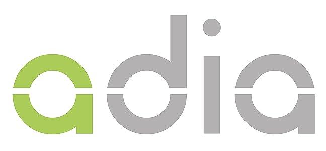 adia Blutzuckermessgerät (mmol/l) mit 10 Teststreifen - für Diabetiker zur Selbstkontrolle des Blutzuckers bei Diabetes