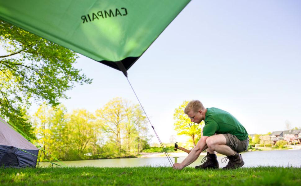CampAir T Profil Zelt Heringe aus verzinktem Stahl, Set mit