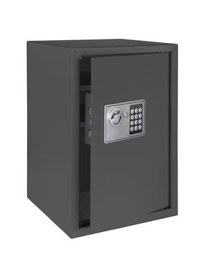 Tresor mit leicht geöfnetter Tür, Farbe: Dunkelgrau