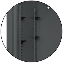 Detailansicht Innenraum des Tresors, Farbe: Dunkelgrau