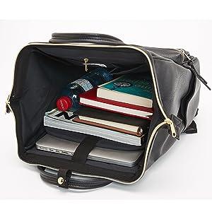 Kah Kee Leder Rucksack Wickeltasche Mit Laptopfach Travel School Für Damen Braun Groß Koffer Rucksäcke Taschen