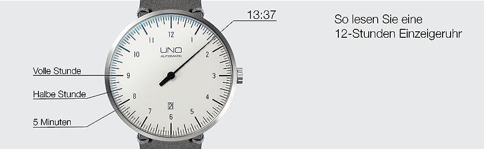 Einzeigeruhr Mit Botta 810000 Plus Herren Analog Lederarmband Uno Design Automatik uJ3Tl1KcF