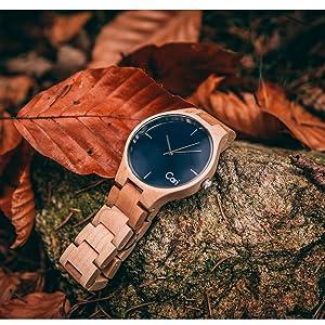 Cari Damenamp; Holzuhr 021 Mit Holz Armbanduhr Uhrwerk Schweizer Stockholm 40mm Herren 435RjLAq