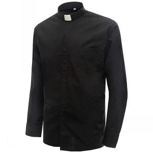 IvyRobes Herren Priesterhemd Langen Ärmeln Klerus Hemd mit Tab ... ffc298b615