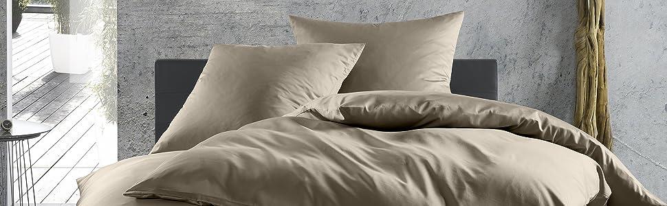 Schöne Bettwäsche Mako Satin 2x 135x200 M.kissen U Spannbettlaken Heller Glanz