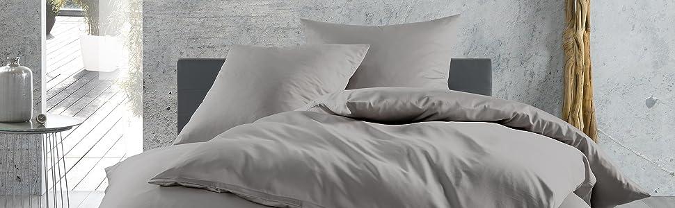 Seidig Mako-Satin Baumwolle Bettwäsche Bettgarnitur 135x200200x200220x240