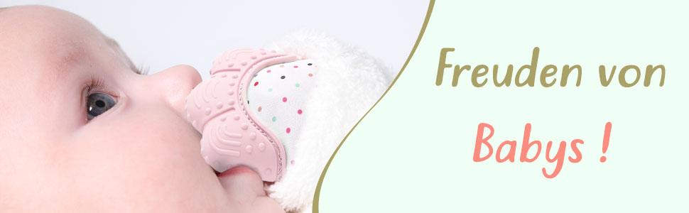 VertrauenswüRdig Zooawa Beißringe Baby Ring Teether Lebensmittel Grade Silikon Kühlbeißring... Beißringe Pflege