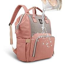 Wasserdichte Wickelrucksack Tasche HEYI Mutifunktionale Wickeltasche Rucksack Dunkelgrau Gro/ße Reisetasche f/ür Mutter und Baby