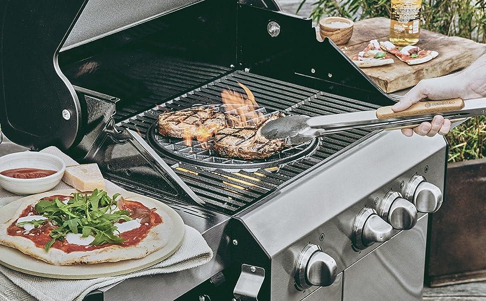 Enders Gasgrill Pizza : Burnhard sear grate grillrost und pizza stein im set für gasgrill