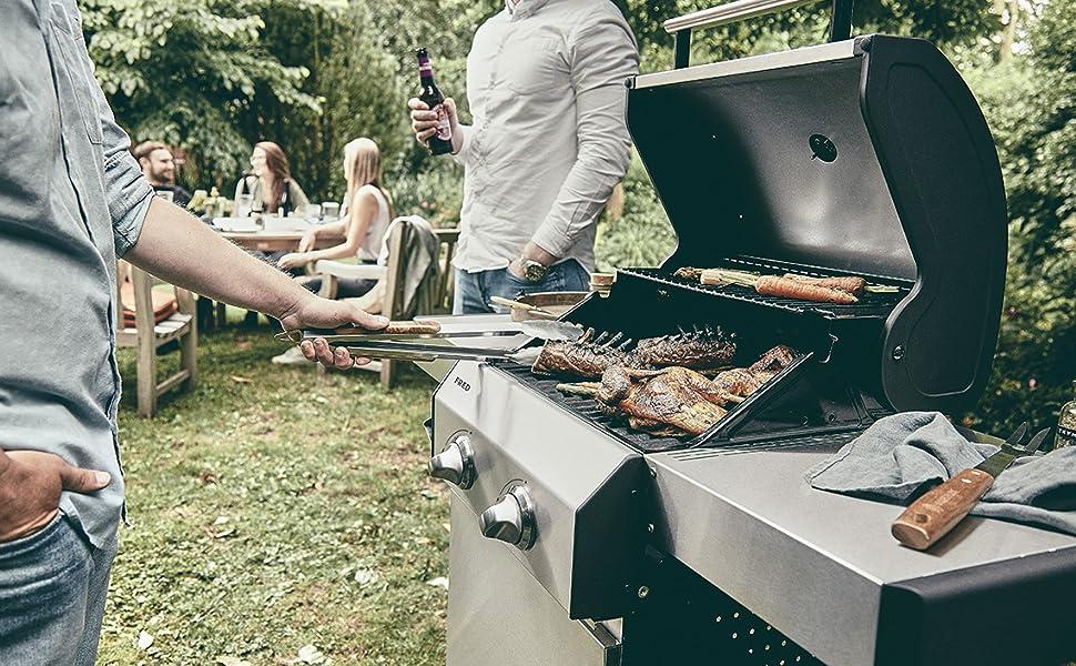 Test Gasgrill Barney Von Burnhard : Burnhard brenner gasgrill fred grillwagen mit gussrosten