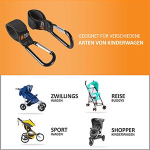 Karabiner Befestigungshaken Universale Passform 4 St/ück Taschenhaken f/ür Wickeltaschen Digead Kinderwagen Haken