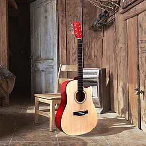 41 Zoll Full Size Anfänger-akustikgitarre cutaway Hricane Gitarren Gu-