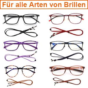 LIHAO 6 St/ück Universal Brillenband Damen Brillenkordel Herren Brillenschnur Brillenkette Einstellbare Brillenb/änder Sonnenbrillenkordel f/ür Lesebrille Sportbrille Sonnenbrille