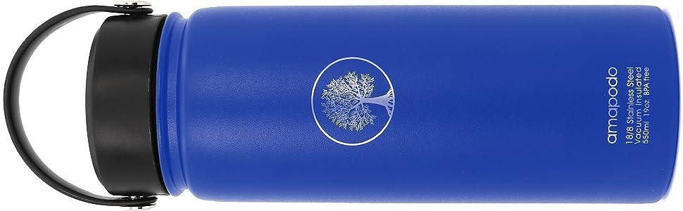 water, bottle, flasche, trinkflasche, blau, isolierflasche, amapodo