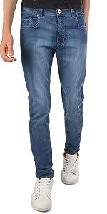 Pantalones vaqueros para niños, de algodón, elásticos,