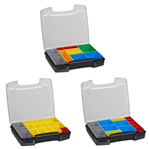 Sortimo Sortiments Kleinteile Koffer i-Boxx 72 schwarz mit Insetboxenset H3