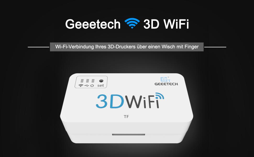Geeetech 3D WiFi Modul für 3D Drucker, Einfache drahtlose Bedienung des 3D  Druckers mit der Easyprint 3D App