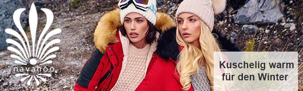 Navahoo Damen Winter Mantel Winterparka La Viva XS-3XL