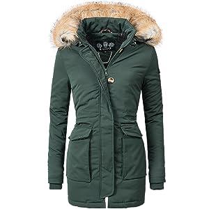 dfc6c24db32e Navahoo Damen Winter-Jacke Winter-Mantel Schneeengel (vegan ...