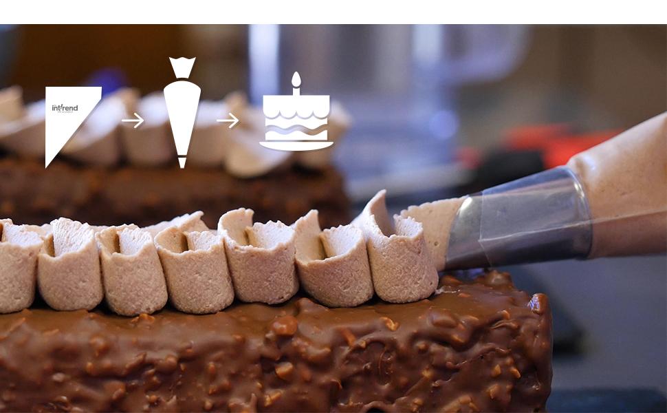 Poches à douille jetables, gâteaux, cupcakes, crème.