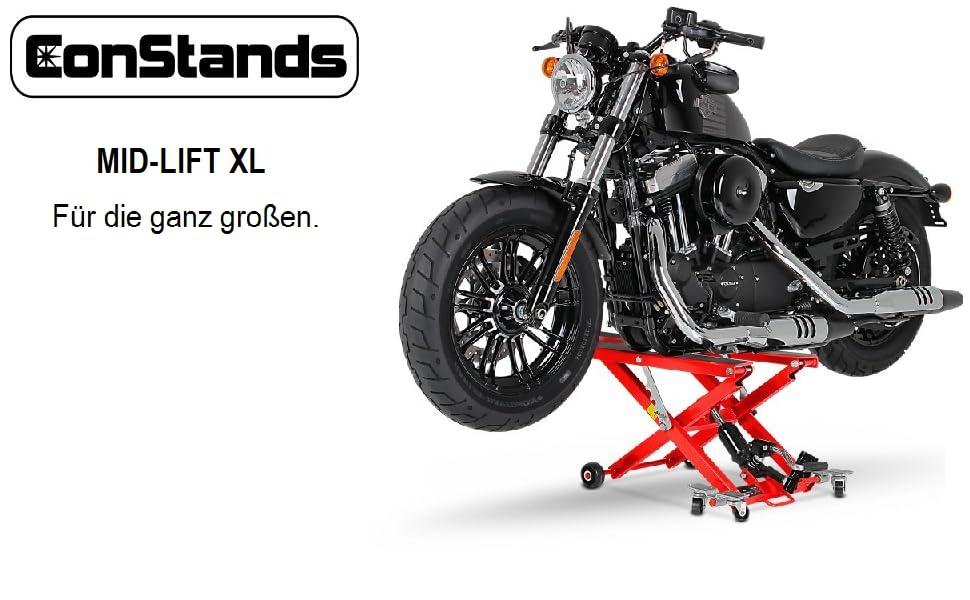 Motorrad Hebebühne Scherenheber Hydraulik-Lift ConStands XL schwarz ...