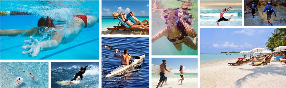 Herren Damen Quick Dry Aqua Barfuß für Strand Schwimmen Surfen Tauchen Wasser
