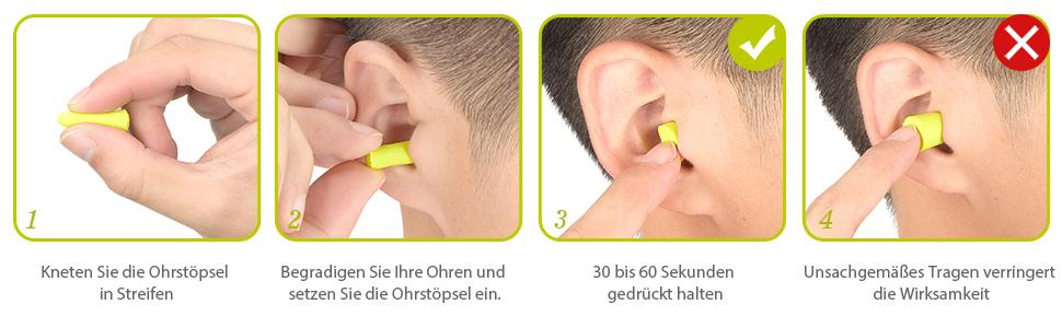 Mpow Ohrstöpsel Für Gehörschutz 60 Paar über 34db Snr