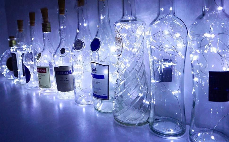 Led Licht Schoenen : Weinflaschen lichter mit kork 10 stück batteriebetrieben led