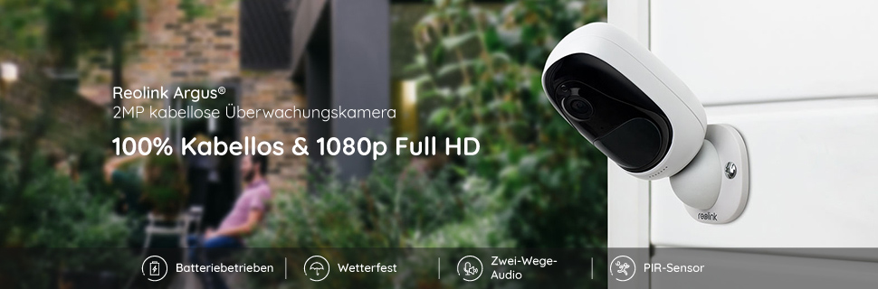 reolink argus 100 kabellos 1080p wetterfest ip wlan. Black Bedroom Furniture Sets. Home Design Ideas