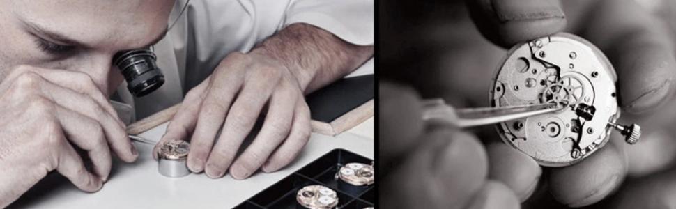 AIKURIO Damen Armbanduhr Analog Quarz 30M Wasserdicht mit
