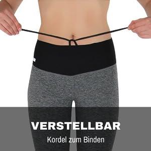 Handytasche Laufgürtel Laufhose mit Tasche Formbelt Sport Leggings Caprihose tights fitnesskleidung