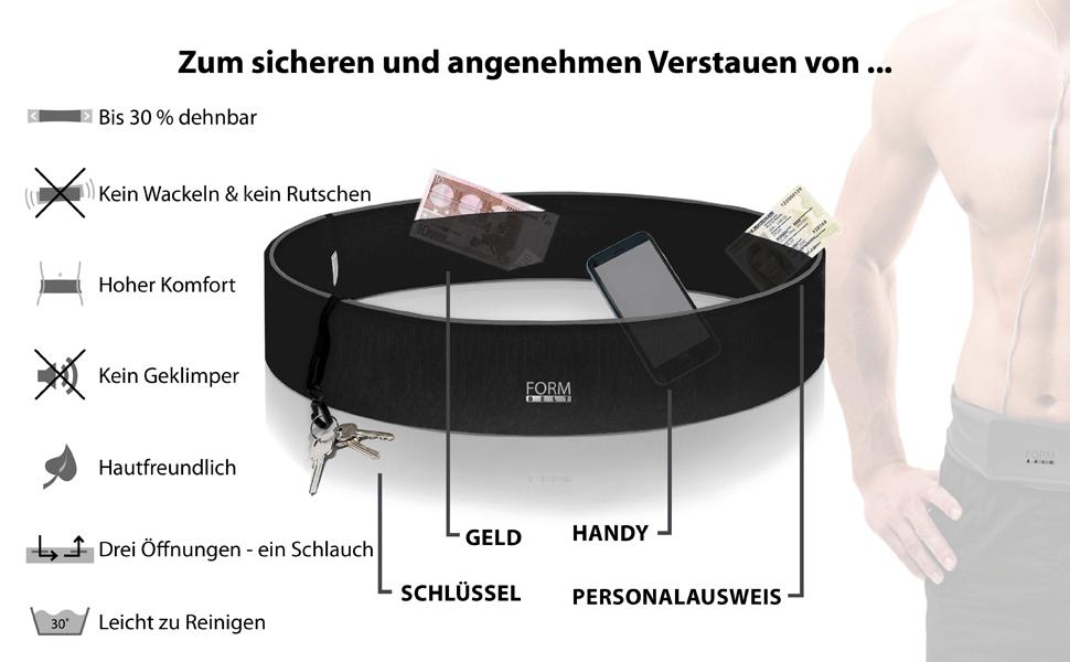 Formbelt Laufgurtel Fur Handy Smartphone Schlussel Hufttasche