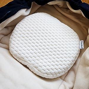 2 Bezüge Weiß Ehrenkind Made in GermanyBabykissen gegen Plattkopfinkl