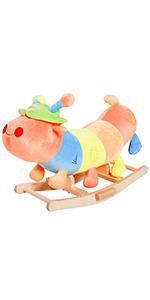 Holzspielzeug Schaukelpferd Kinder Wiehern Schaukeltier Schaukelspielzeug Braun