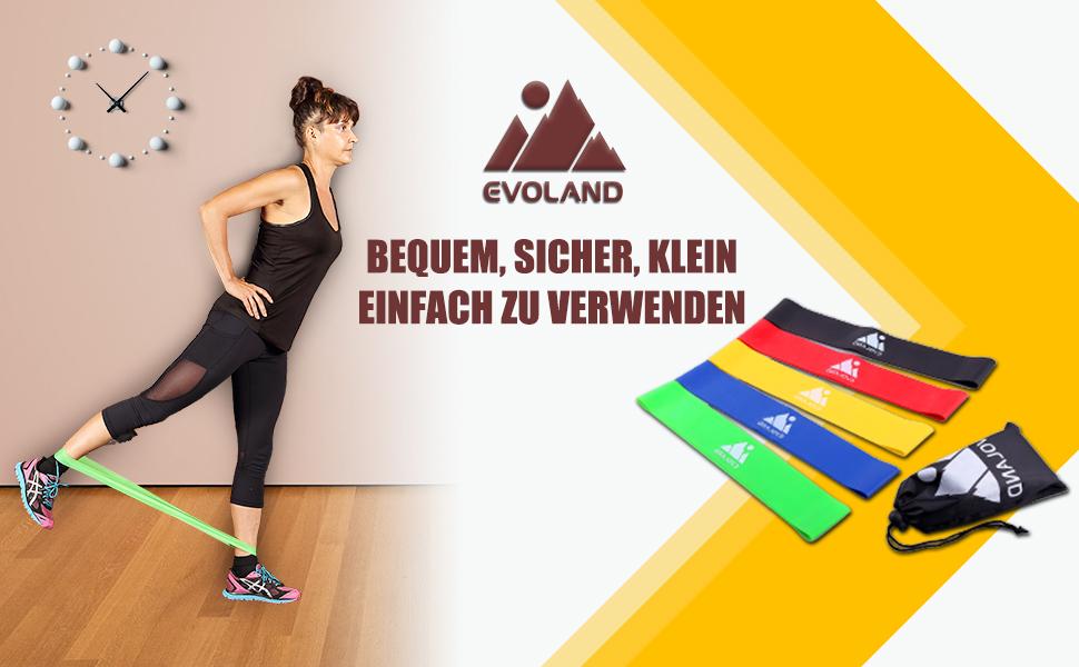 Fitnessb/änder Widerstandsb/änder,5 St/ärke Resistance Band Krafttraining Fitnessband Gymnastikband f/ür Yoga Physiotherapie Pilates und Effektives Training Zuhause