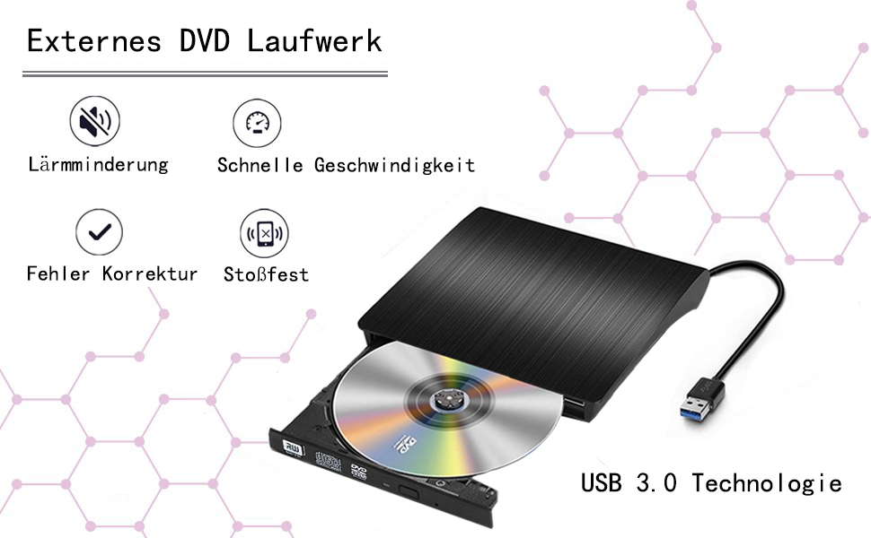usb 3 0 slim extern dvd laufwerk dvd brenner dvd rom dvd. Black Bedroom Furniture Sets. Home Design Ideas