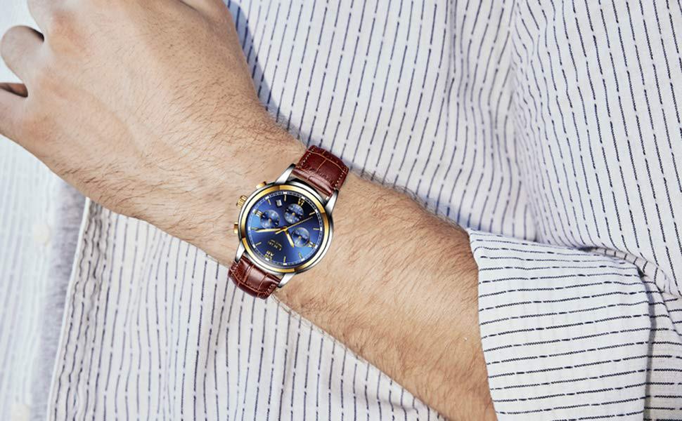 Quarz-uhren Uhren Ausdrucksvoll Curren 2018 Fashion Business-männer Uhren Hochwertiges Lederarmband Quarz Armbanduhr Mehrere Zeitzone Männlich Clock Uhren