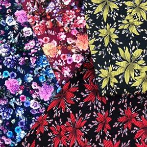 Design Sandalen - Floral Blumen Sandaletten aus Kork