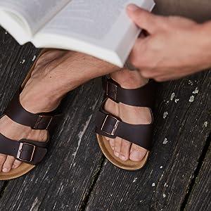 kork sandale für männer