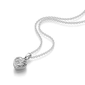 Herzkette Silber 925 ❤ Damenkette mit Herz-Anhänger Gravur Zirkonia  Silberkette Frauen Damen Echt 18274cc6af