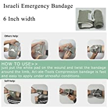 "6"" Israeli Emergency Bandage"