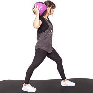 Balón medicinal de goma en 1 kg, 1,5 kg, 2 kg, 3 kg, 4 kg, 5 kg, 6 kg, 7 kg, 8 kg, 9 kg, 10 kg, 12 kg, para entrenamiento de fuerza, crossfit, ...
