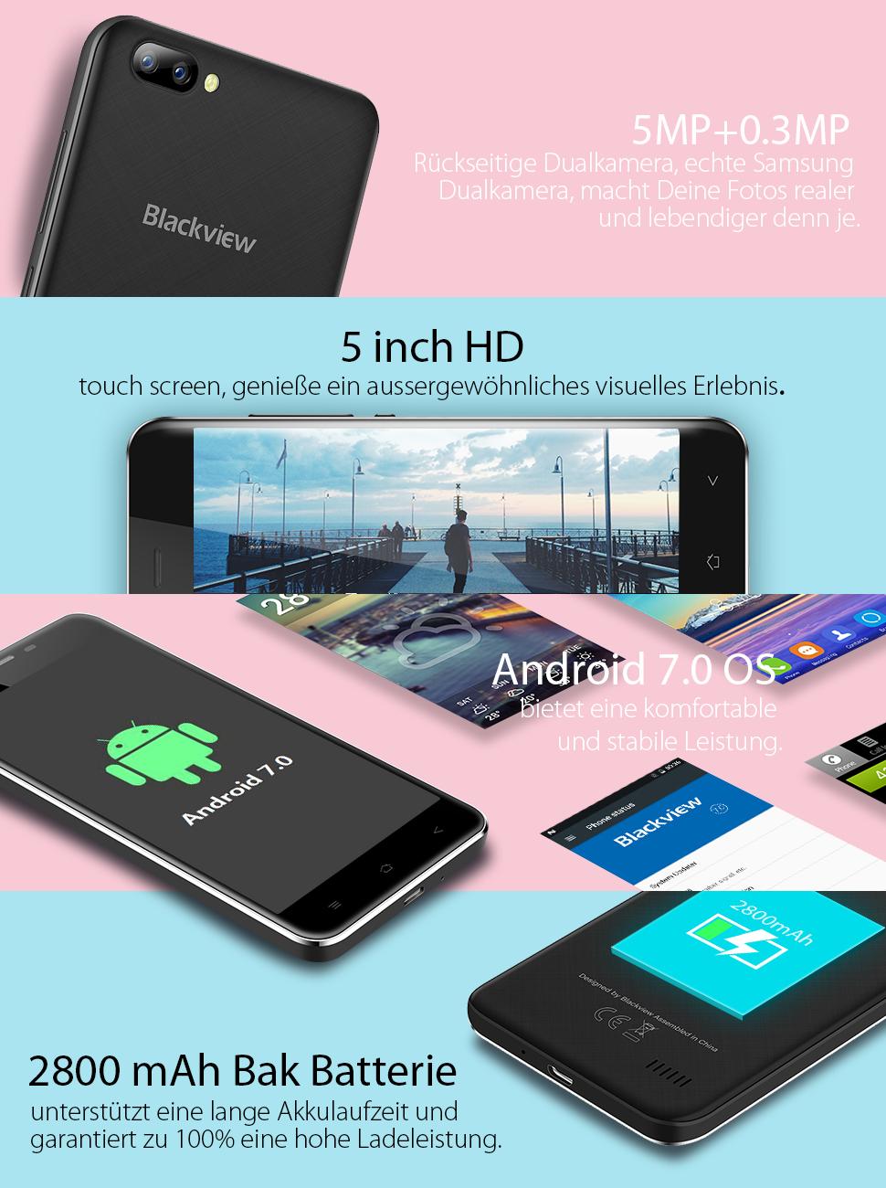 Blackview A7 Das billigste Dual-Kamera-Smartphone der Welt, wir versuchen,  das Beste in jedem Aspekt zu tun, von der Erscheinung bis zum Bauteil.