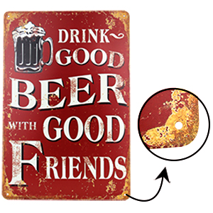 generisch Blechschild 20x30 cm Retro Bier Geschenk Magnet-Metall-Schild mit Spr/üchen Vintage lustige T/ürschilder Bier Nostalgie Schild Deko Bar-Schild Beer Motiv